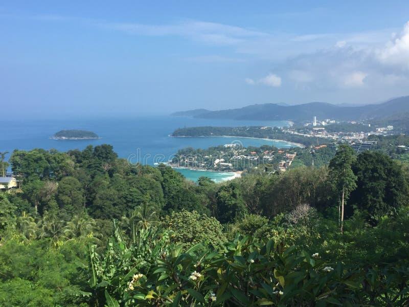 Остров Пхукета точки зрения Karon стоковое фото rf