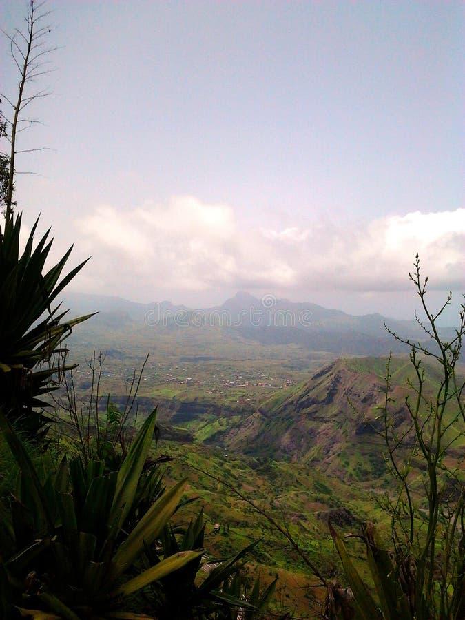 остров 20 плаощ-накидк делает verde santiago фото панорамы стоковое изображение