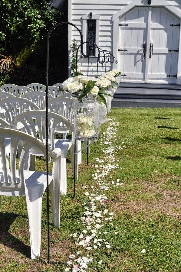 Остров свадебной церемонии стоковые фотографии rf