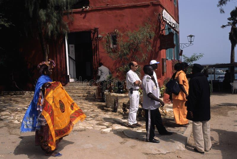 остров Сенегал goree стоковое фото rf