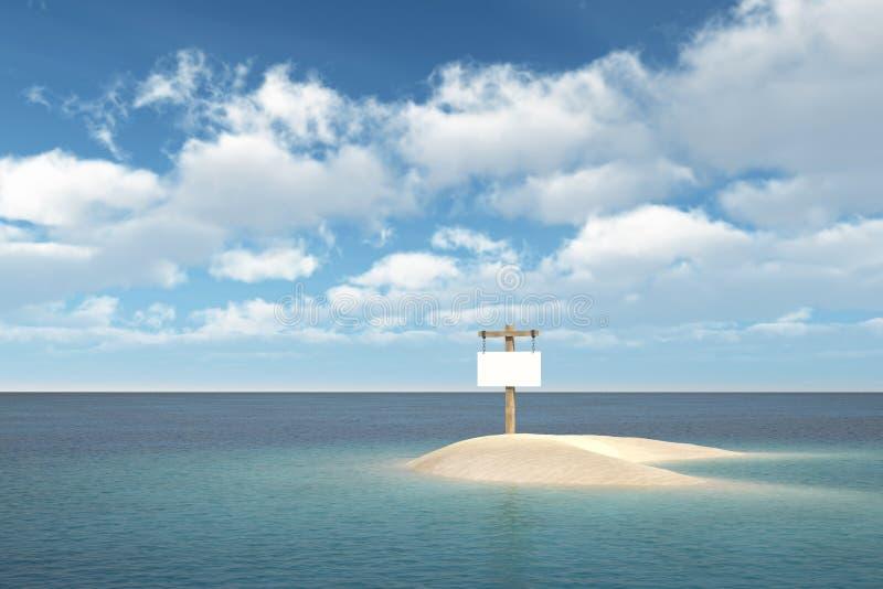 Остров с signboard стоковые изображения