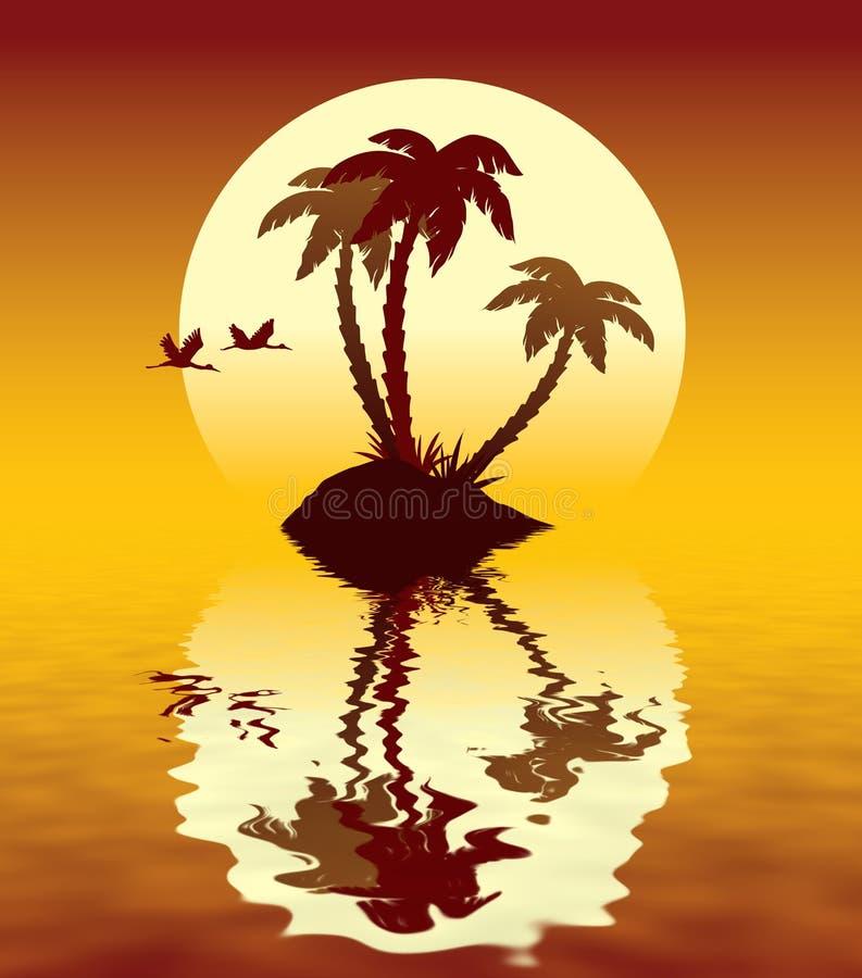 остров тропический бесплатная иллюстрация