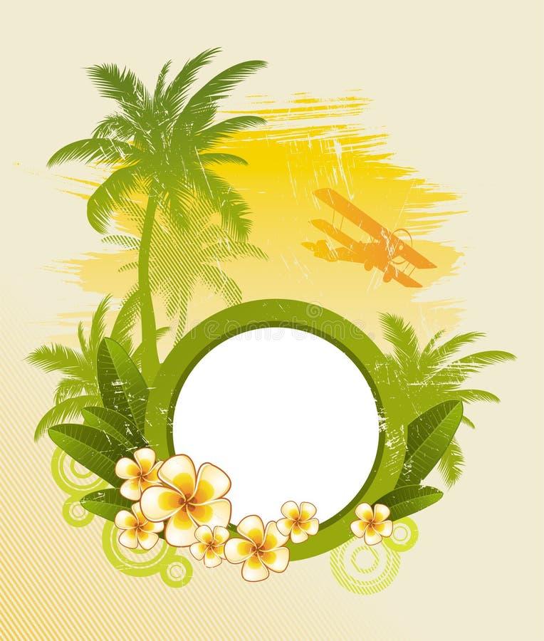 остров тропический иллюстрация штока