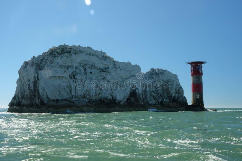 Остров Уайт маяка игл стоковые фотографии rf