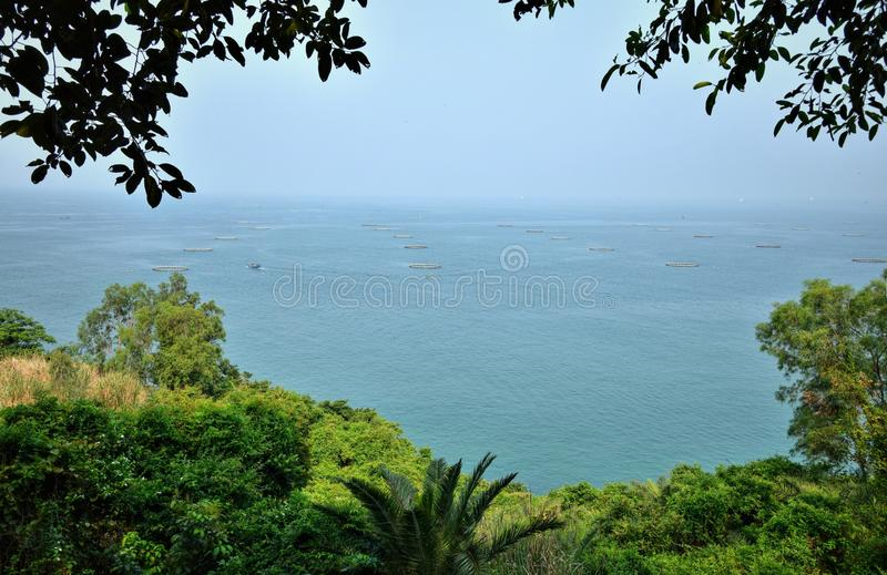 Остров цыпленка около Maoming в провинции Гуандун в Китае стоковая фотография