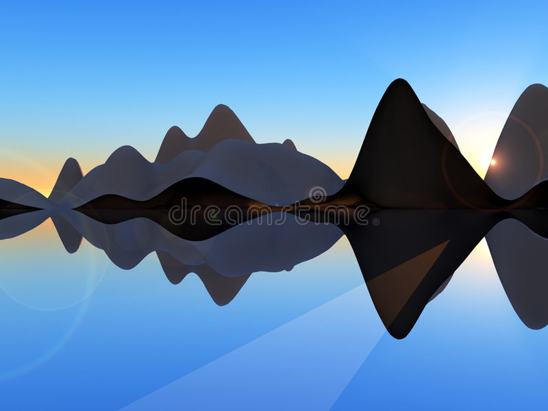 Остров 2 волны иллюстрация штока