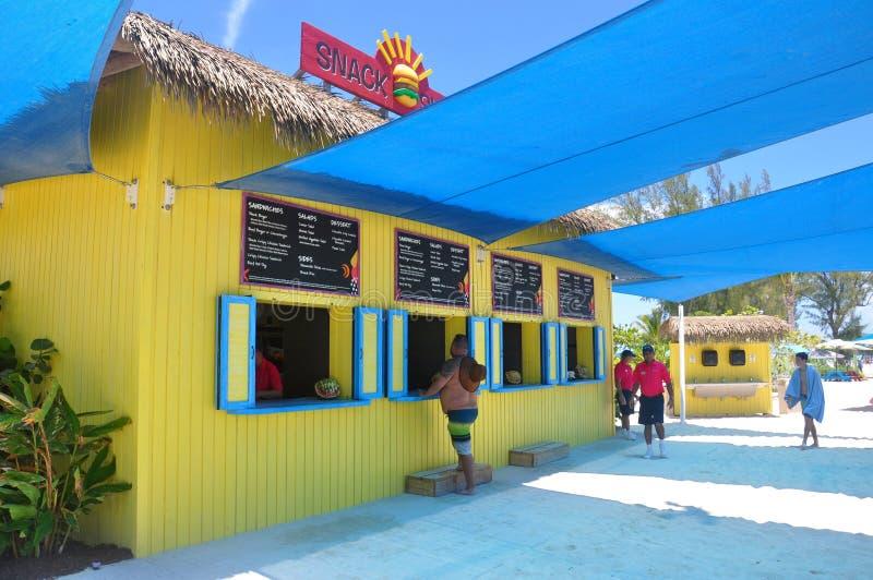 Остров CocoCay идеального дня стоковые изображения rf