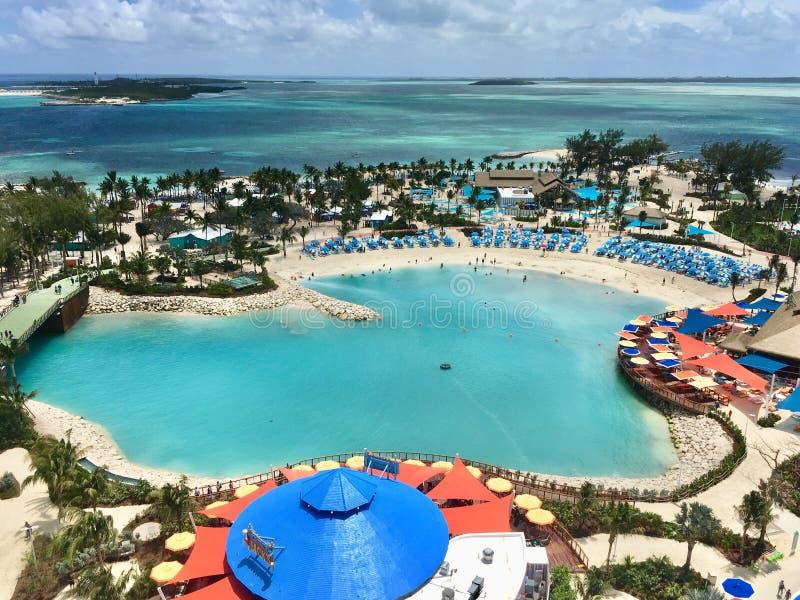 Остров CocoCay стоковые изображения rf