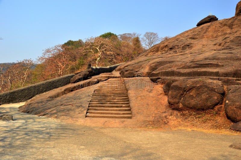 Остров Elephanta выдалбливает Мумбая в Индии стоковая фотография