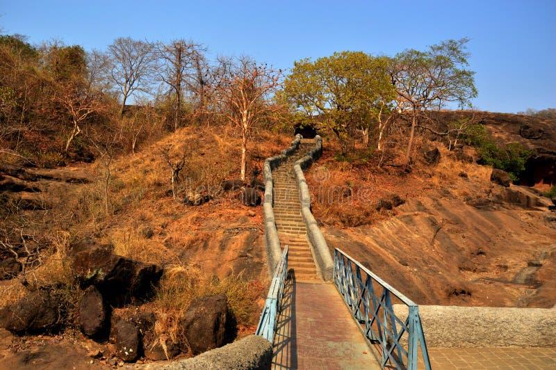 Остров Elephanta выдалбливает Мумбая в Индии стоковая фотография rf