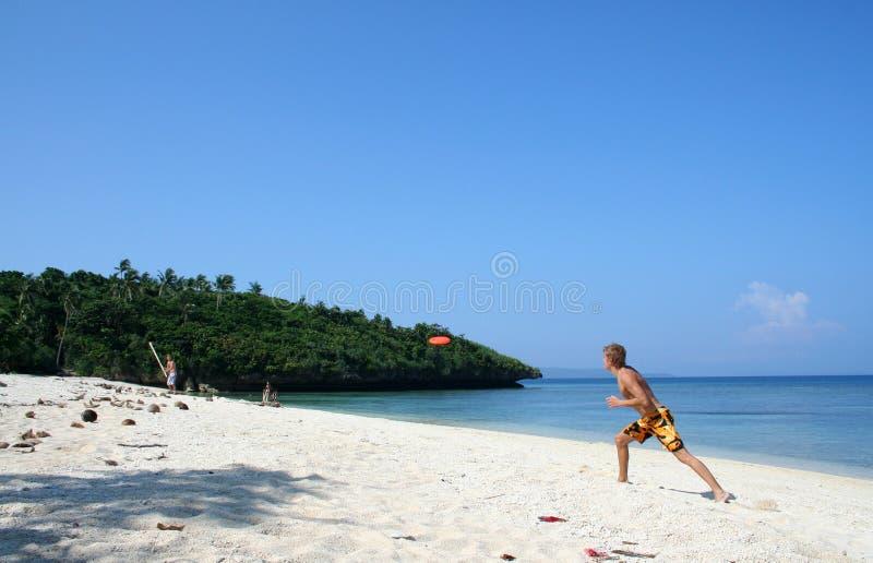 остров frisbee сверчка boracay пляжа стоковая фотография