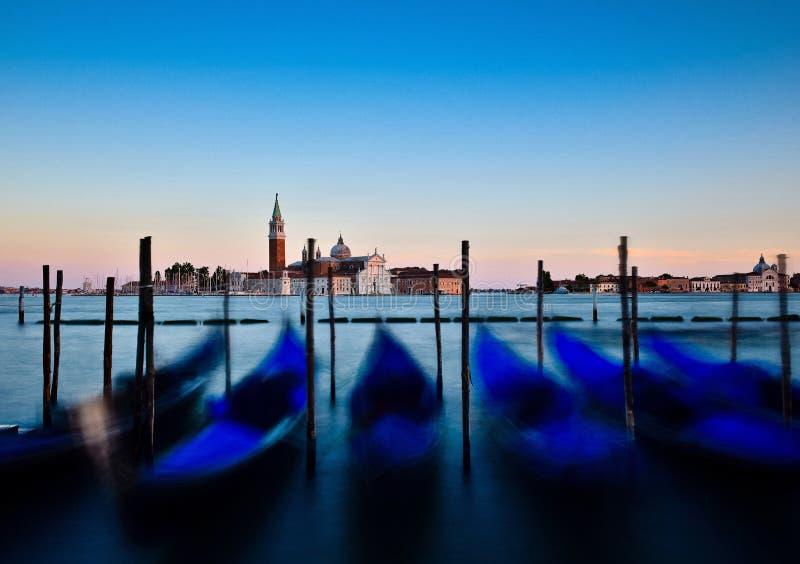 Остров Giorgio, Венеция, Италия на заходе солнца стоковое фото