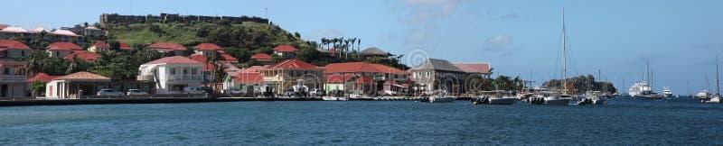 Остров Gustavia Сен-Бартельми, карибский стоковое фото