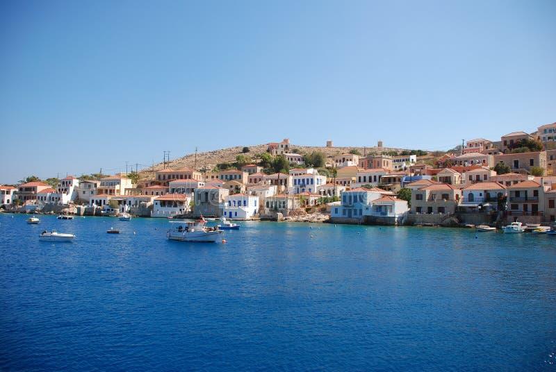 остров halki Греции стоковое фото