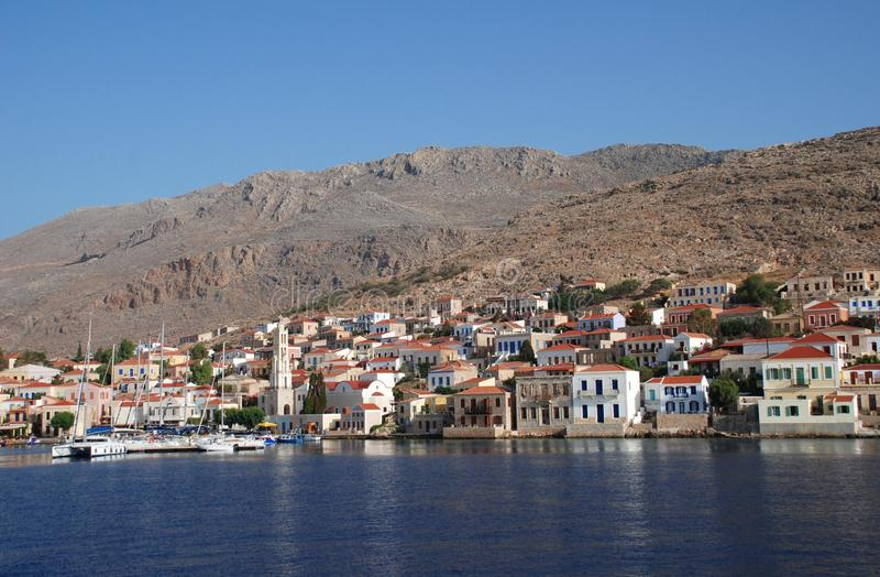 остров halki Греции стоковое фото rf