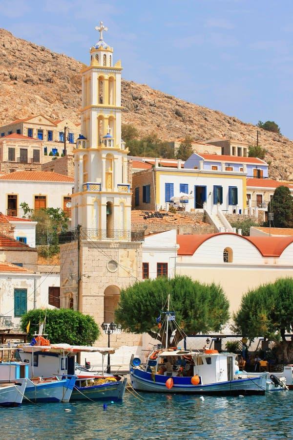 остров halki Греции chalki стоковые изображения rf