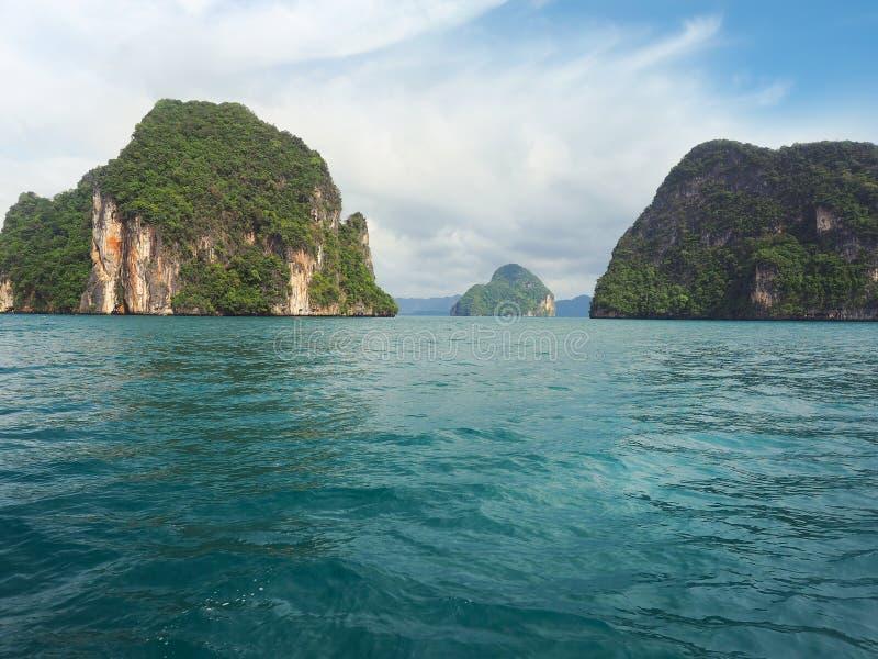 Остров Hong, национальный парк Phang Nga, Krabi стоковое изображение rf