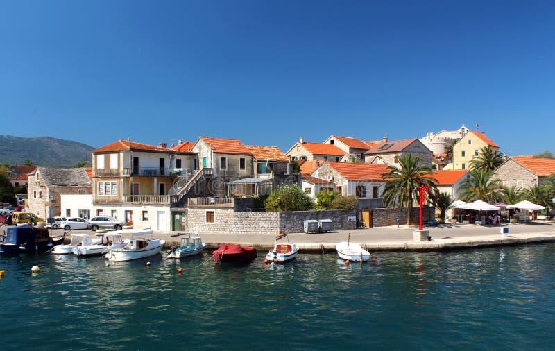 Остров Hvar в Хорватии - красивом ландшафте Далмации стоковая фотография rf
