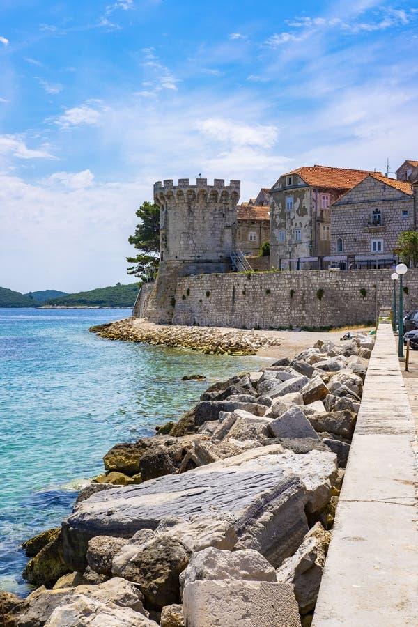 Остров Korcula, Далмация Хорватия стоковые изображения