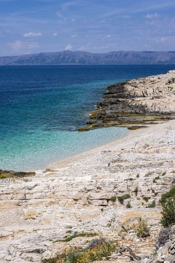 Остров Korcula, Далмация Хорватия стоковые фото