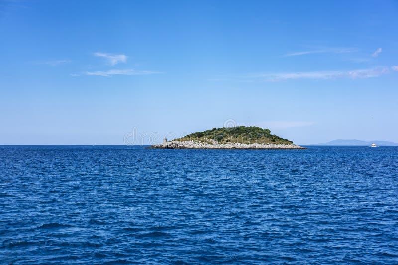 Остров Korcula, Далмация Хорватия стоковое фото