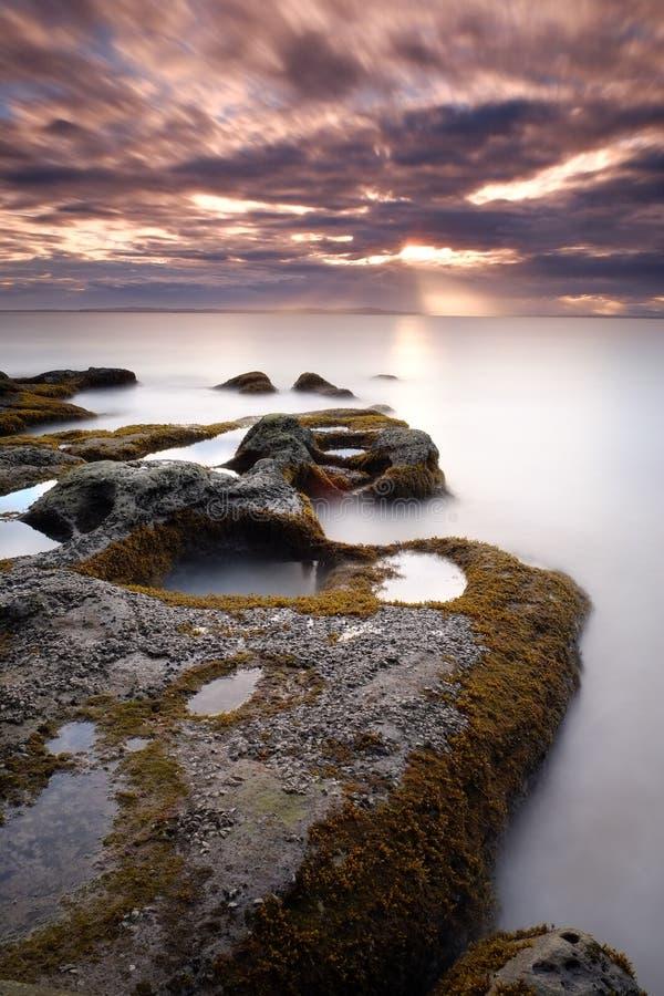 Остров Labuan восхода солнца стоковое фото