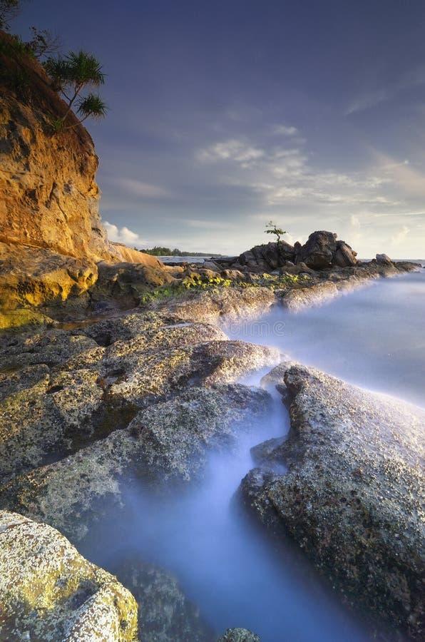 Остров Labuan захода солнца стоковое изображение rf