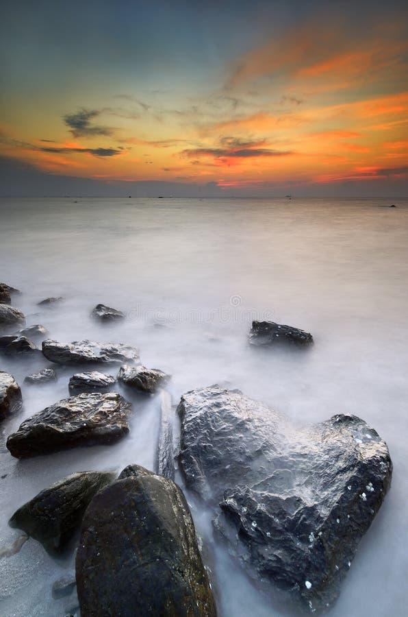 Остров Labuan захода солнца стоковое фото