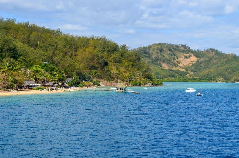 Остров Malolo, Mamanucas, Фиджи стоковые фотографии rf