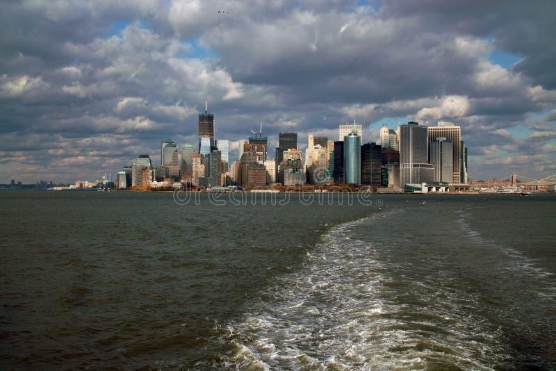 остров manhattan New York стоковое изображение