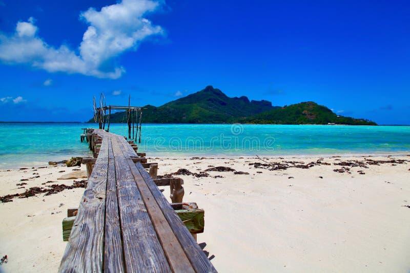 Остров Maupiti, Таити, Французская Полинезия, близко к Bora-Bora стоковое фото