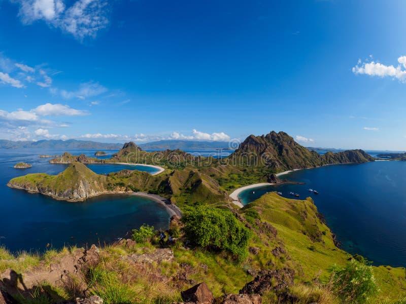 Остров Padar в Flores, Индонезии стоковые фотографии rf