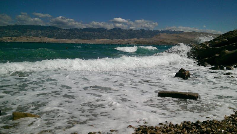 Остров Pag в Хорватии стоковые фотографии rf