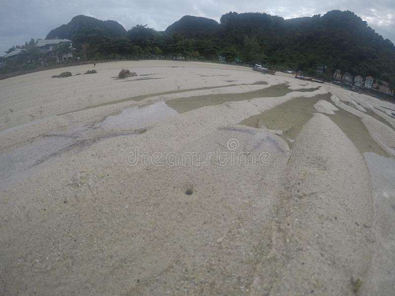 Остров phi phi морских звёзд цвета песка стоковое фото