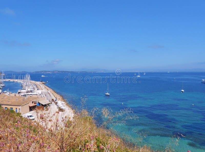 Остров Porquerolles, Hyeres, Франция стоковая фотография