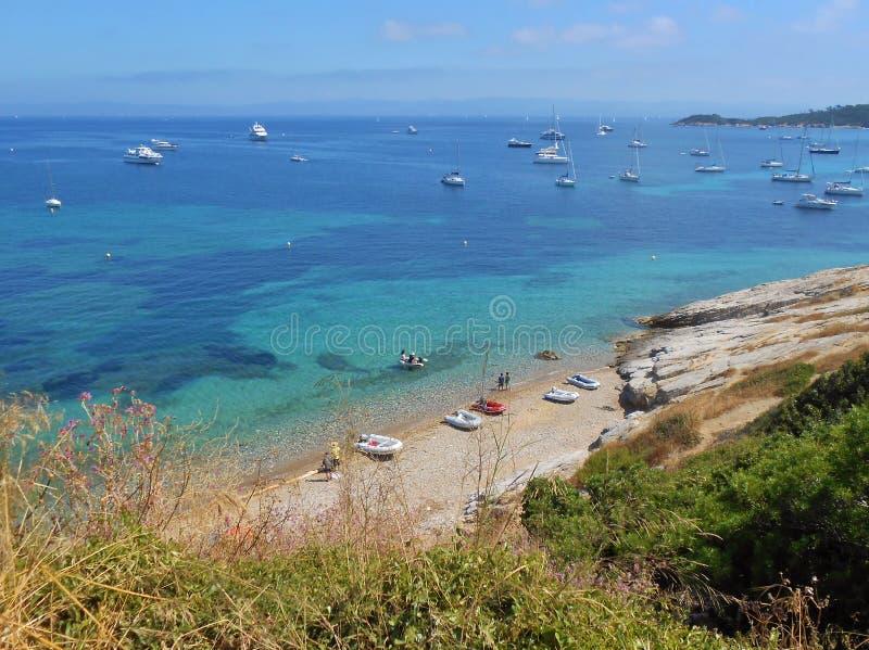 Остров Porquerolles, Hyeres, Франция стоковое фото rf