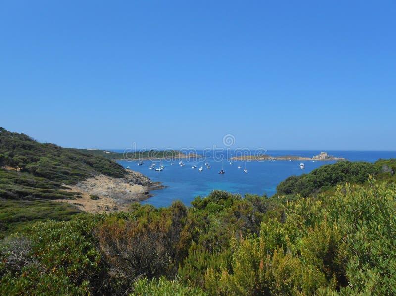 Остров Porquerolles, Hyeres, Франция стоковые фотографии rf
