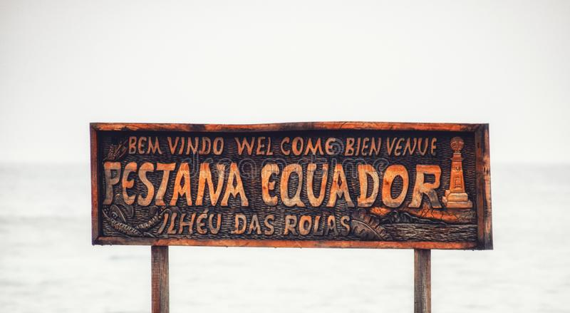 Остров Rolas Сан Томе и Принчипе стоковое изображение rf