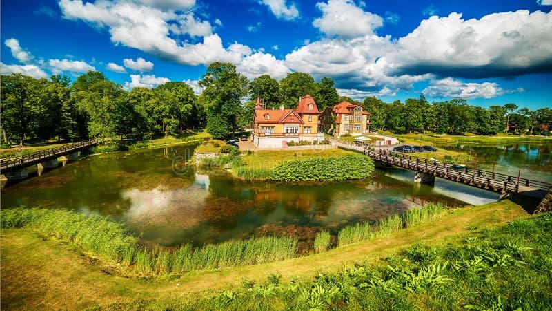 Остров Saarema, Эстония: Замок Kuressaare епископский стоковое фото rf