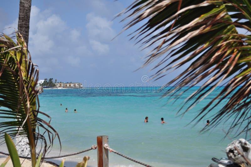 Остров San Andres, карибское море, Колумбия стоковые фото