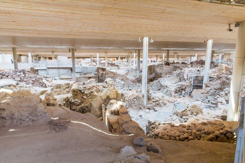 Download Остров Santorini, Крит, Греция. Руины и археологические раскопки Стоковое Изображение - изображение насчитывающей строя, отечественно: 37926121