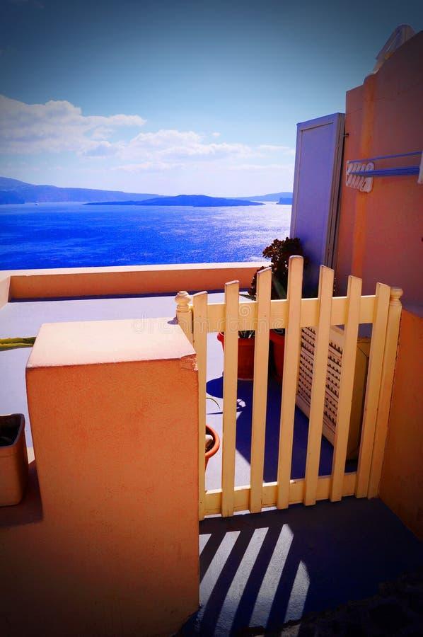 Остров Santorini стоковые фотографии rf