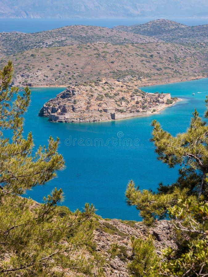 Остров Spinalonga, Крит, Греция стоковое изображение