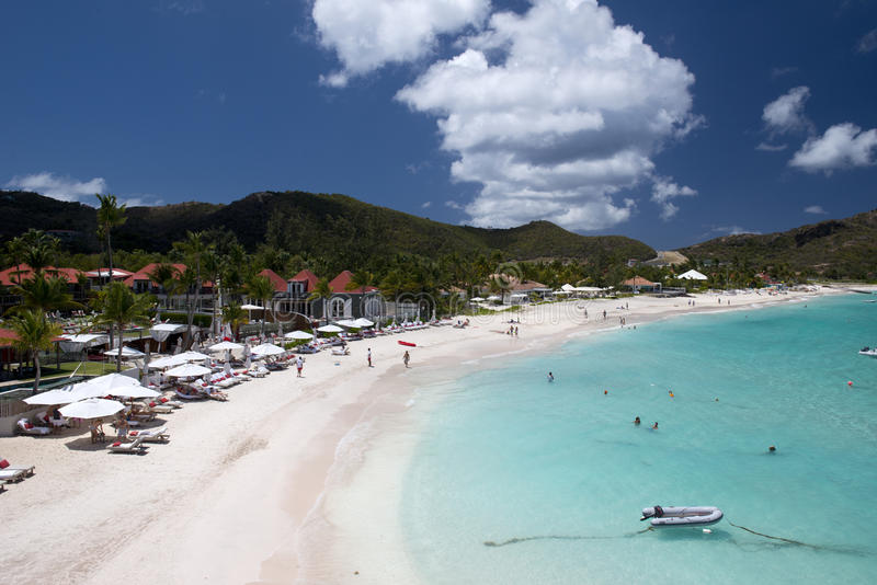 Остров St Barth, карибское море стоковое изображение rf