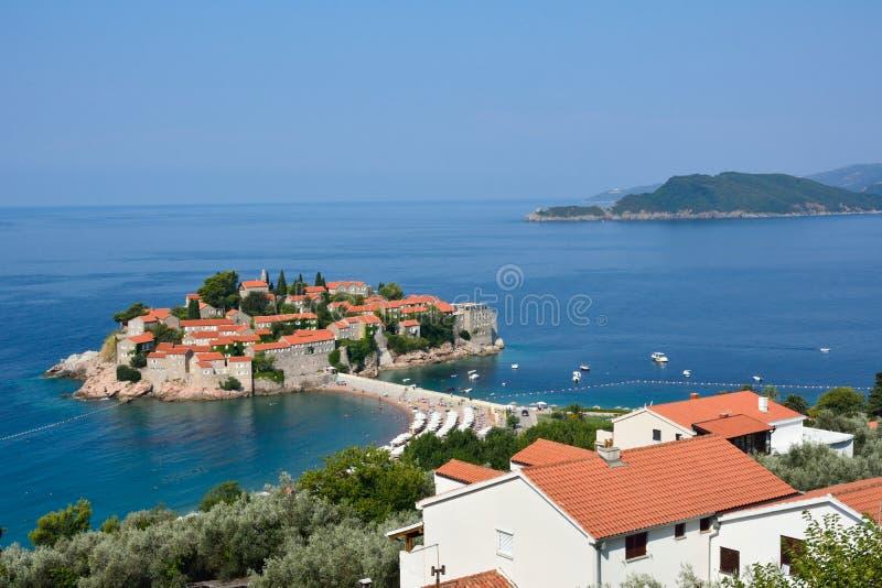 Остров Sveti Stefan, Хорватия стоковое фото