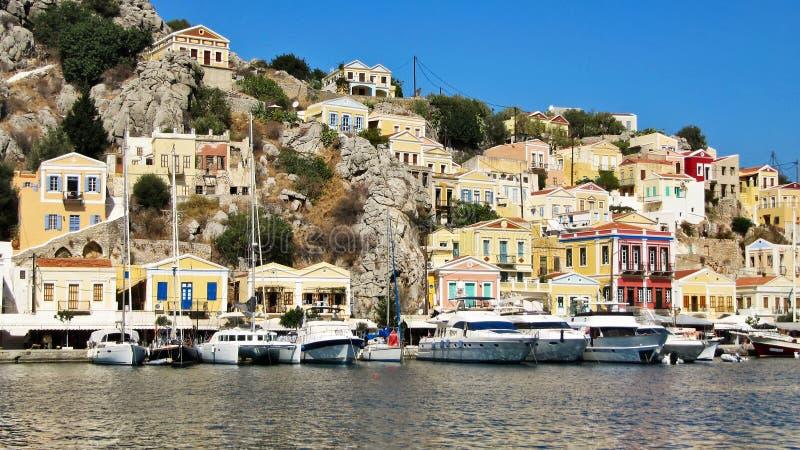 Остров Symi, Греция стоковые изображения rf