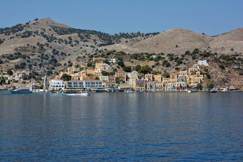 Остров Symi, Родос, Dodecanes стоковые изображения