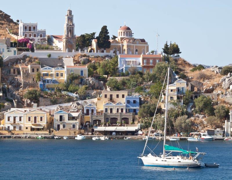 Остров Symi стоковые изображения rf