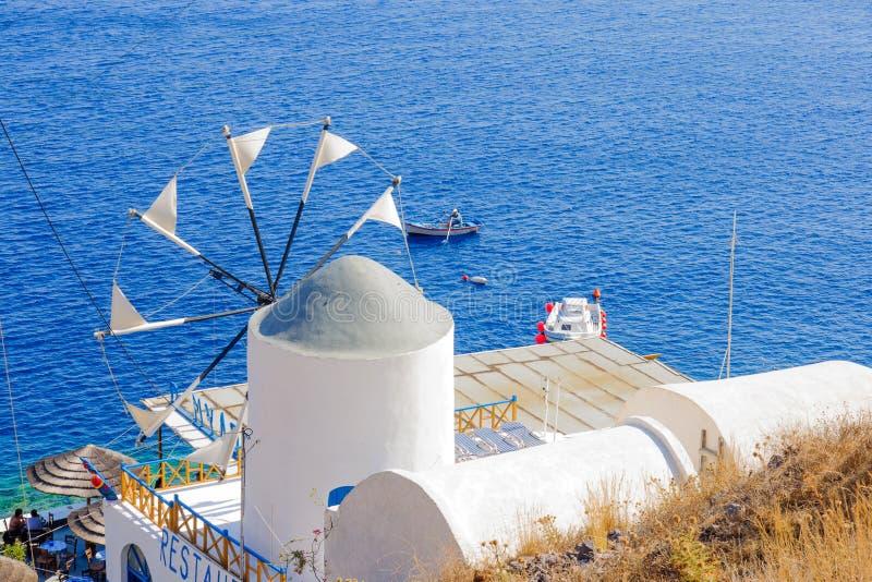 Остров Thirasia, Santorini, Греция стоковые фотографии rf