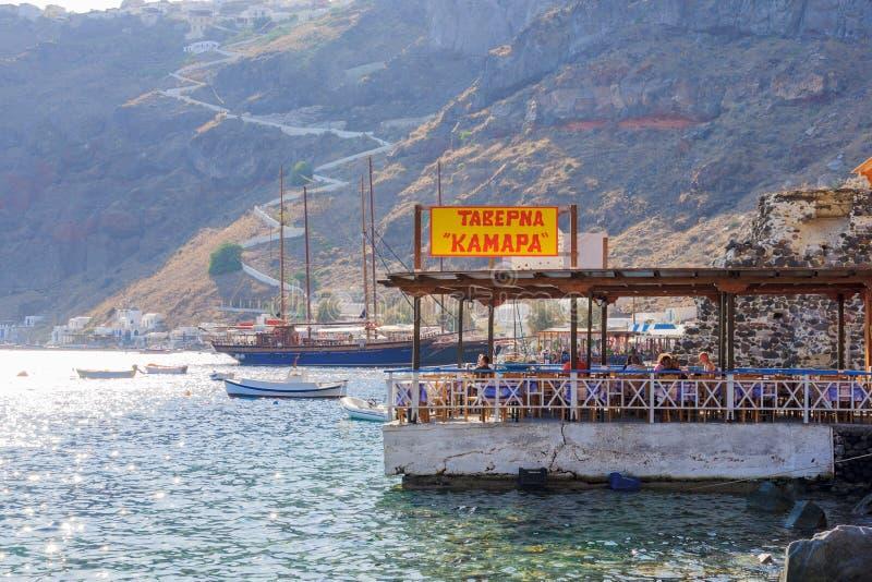 Остров Thirasia, Santorini, Греция стоковое фото